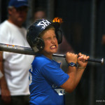 Louis Focht reacts after striking out.
